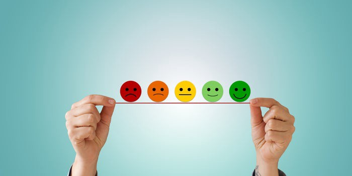 5 emojis: very angry, angry, neutral, happy and very happy